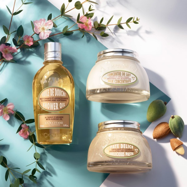 Almond Body Care products